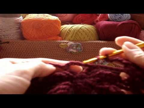 Crochê - Cachecol Butterfly - Parte 02.03