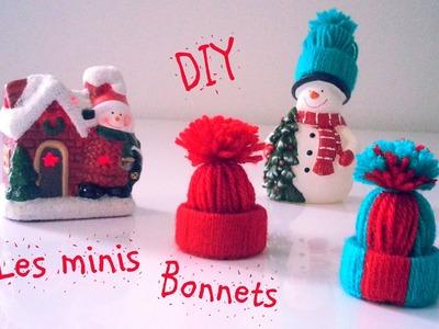 D.I.Y Déco Noël Les minis bonnets en laine