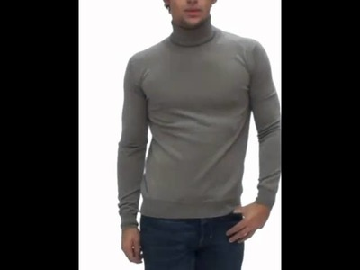Pull col roulé Homme CK taupe MK404-123