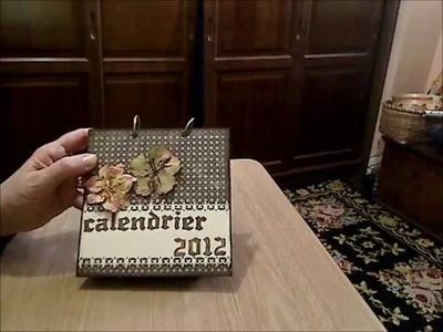 MINI-ALBUM  CALENDRIER  2012 avec scrapaganza.fr