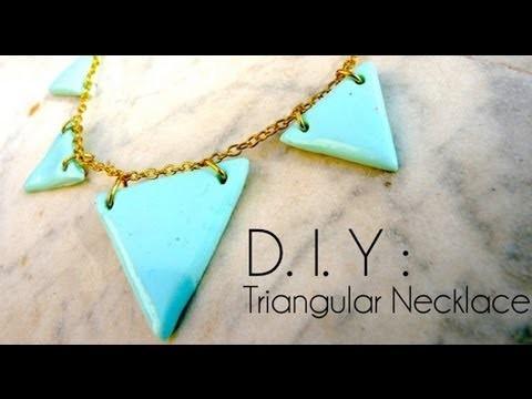 Tutoriel - DIY : Comment faire un collier géométrique en fimo