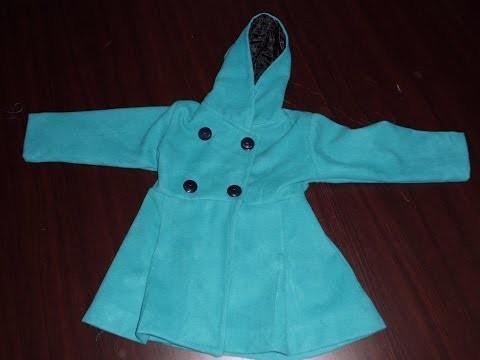 DIY (4) partie manteau enfants .الحلقة280الجزء (4) من تصميم المعطف الاطفال