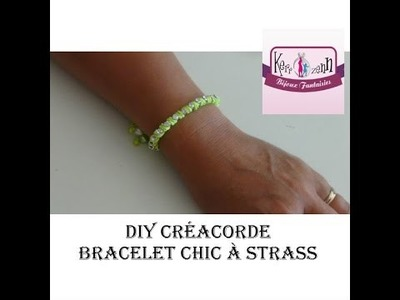 DIY bracelet créacorde chic version strass