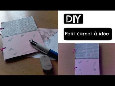 DIY - Petit carnet à idée (format A6)