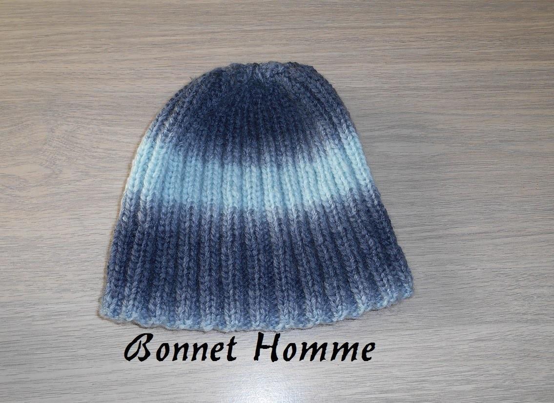 Tricoter un bonnet homme côte 2.2 facile, et rapide. knit a hat for man
