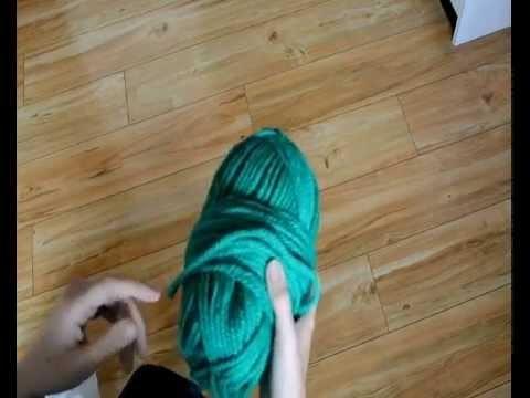 Tuto: écharpe.snood tricot facile aux bras.DIY