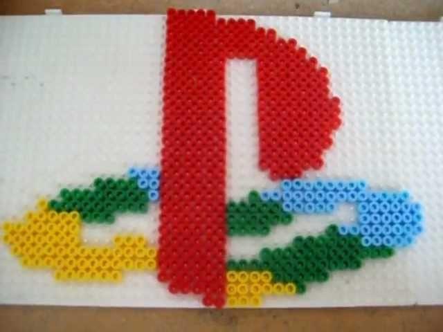 [Tuto] Logo Playstation en Perle Hama (Hama Beads)
