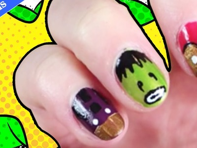 Facile DIY Français: Avengers 2: Age of Ultron Nail Art | Marvel Superhero Nails | DIY French Style