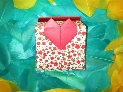HD. TUTO: Faire une boîte coeur en origami - Make an origami heart box