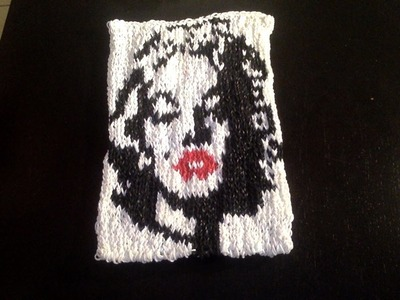 Marilyn Monroe en Mural CraZ loom Tutoriel en Français PART 2