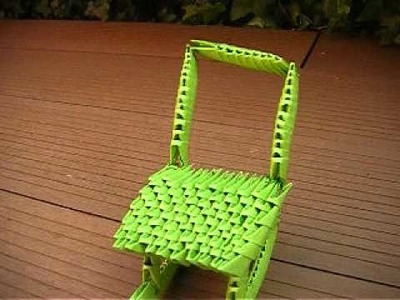 Origami 3D chaise