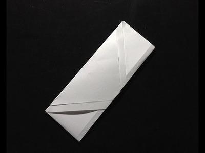 Origami pliage papier pochette à baguette