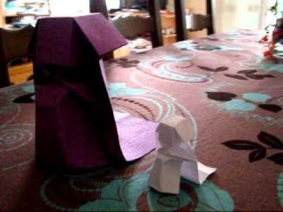 Une mariée en origami