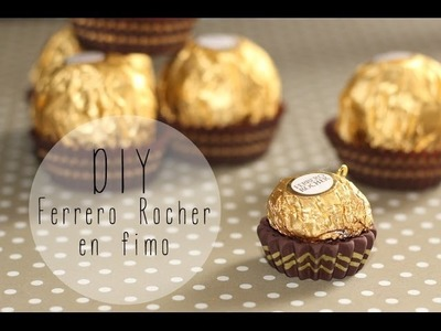 DIY # Tuto Ferrero Rocher ™ en fimo. polymer clay
