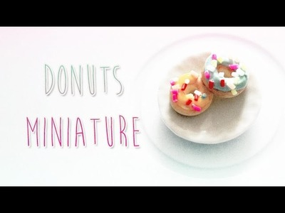 Donuts Miniature en polymère. Miniature Donuts polymer clay