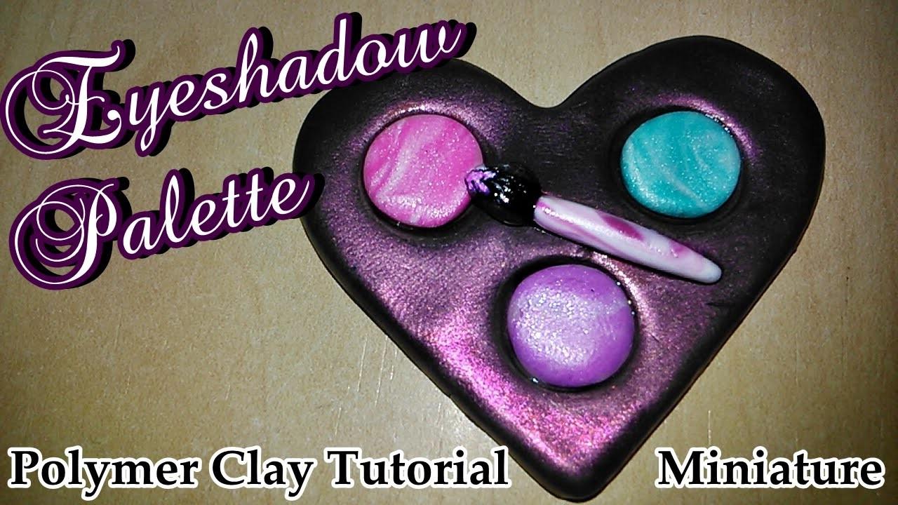 ♥((Eyeshadow Palette))♥ Polymer Clay Tutorial Miniature ((Easy))