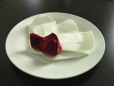 Pliage serviette orchidée origami