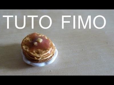 TUTO FIMO - PANCAKE. polymer clay american pancake