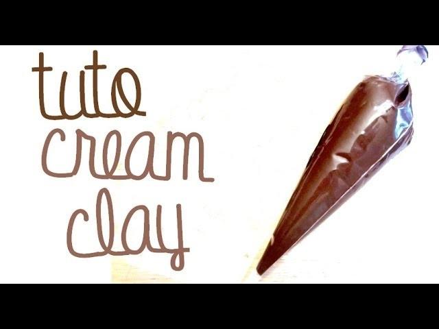 """Utiliser le Chocolate """"Cream Clay"""" miniature icing tutorial"""
