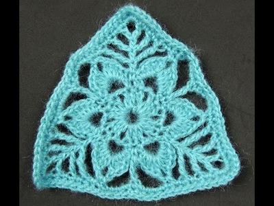 Crochet : Triangulo con Flor