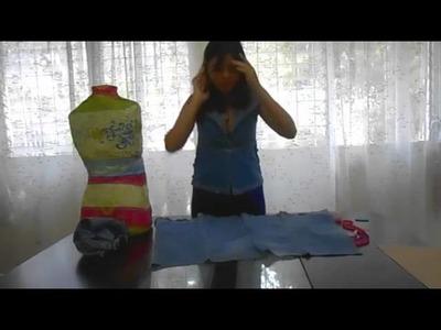DIY Chaleco de jeans