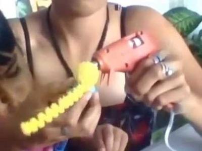 La bebe simpson hecha con limpiapipas