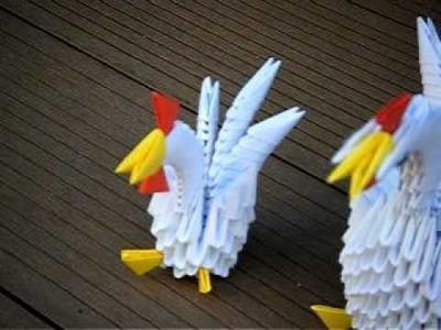 Origami 3D poule