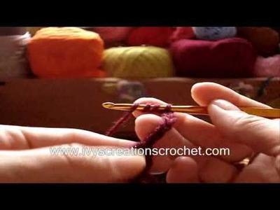 Crochê - Cachecol Butterfly - Parte 01.03