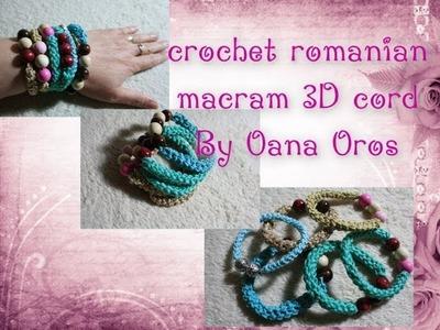 Crochet romanian macramé 3D cord