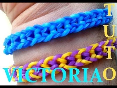 DIY : Bracelet Loom Band VICTORIA. ( Français )