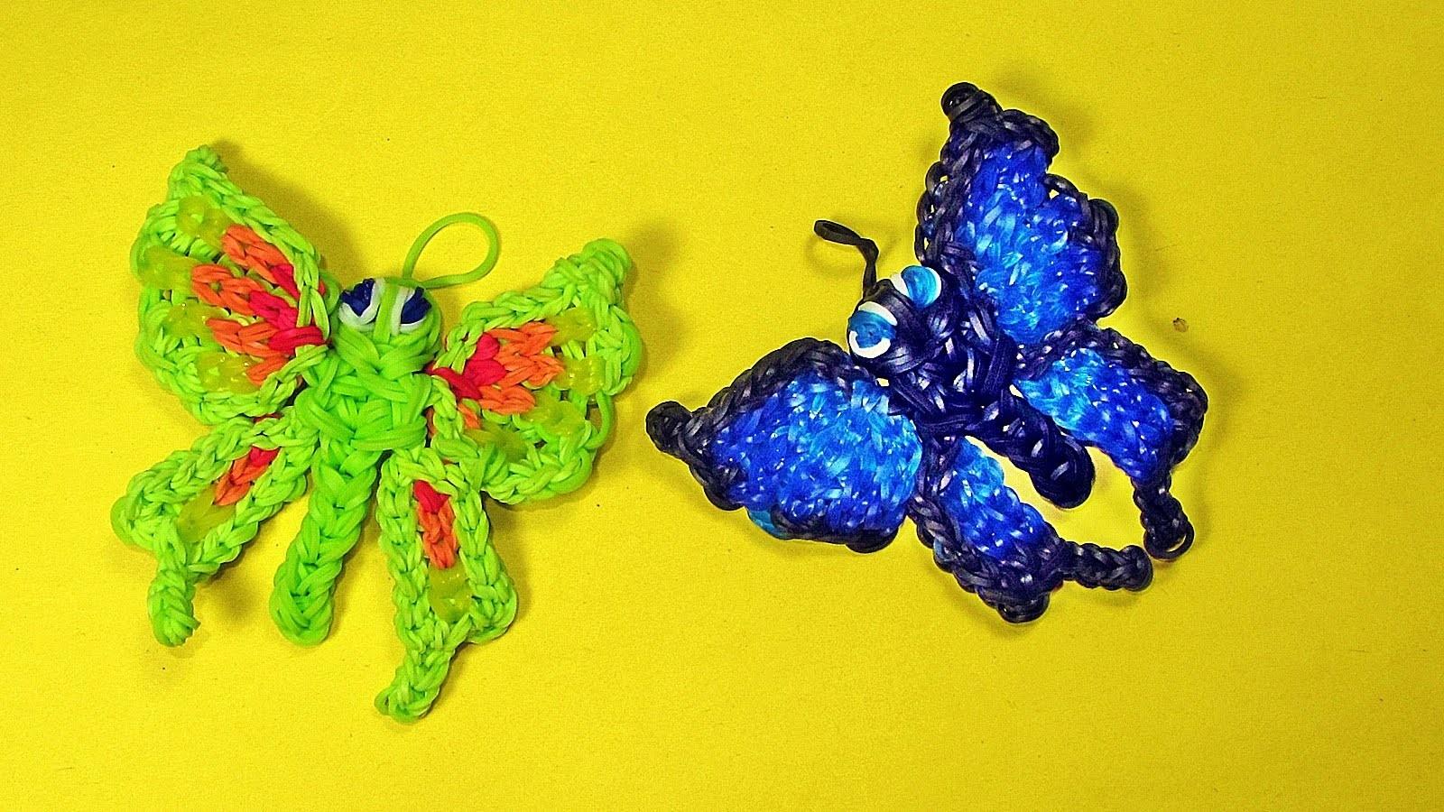 Hervorragend Rainbow Loom Francais Papillon Animaux || Bracelet Elastique  WV89