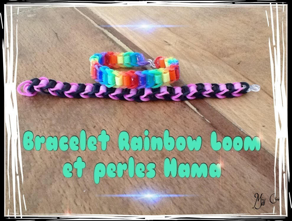 tuto bracelet rainbow loom et perles hama en fran ais. Black Bedroom Furniture Sets. Home Design Ideas