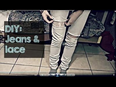 DIY: Jeans & lace
