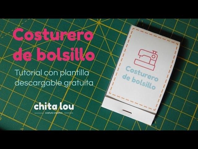 Costurero de bolsillo DIY con plantilla gratis descargable