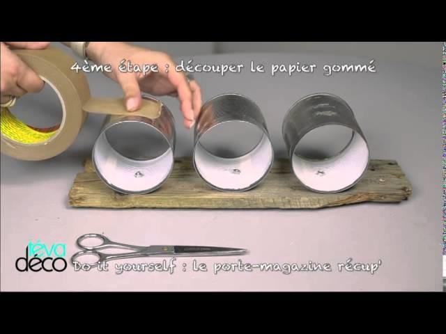 DIY porte mag récup TEVA Déco emission du 28-09-2014
