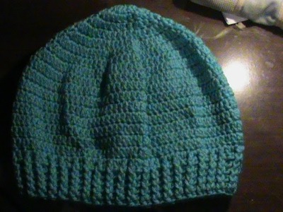 Gorro estilo boina a crochet. Unisex.