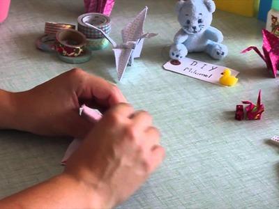 LE DIY MILUMEL : Faire une grue en origami