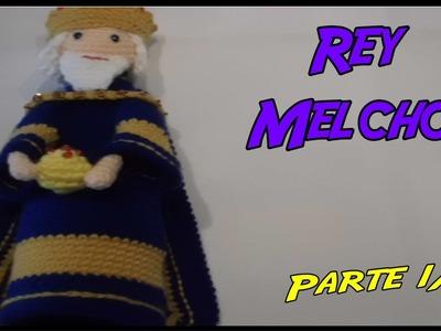 Rey Melchor de crochet Parte 1.3