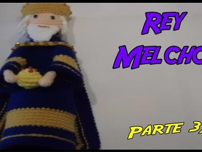 Rey Melchor de crochet Parte 3.3
