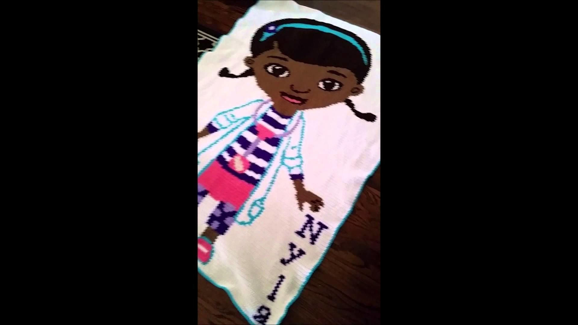 Mcstuffins Inspired Crochet Blanket. Graphghan