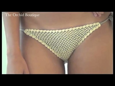 ViX Swimwear   Tandi Taupe Crochet Bikini