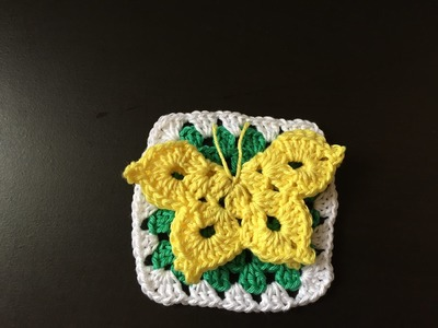 Tuto crochet Square Papillon