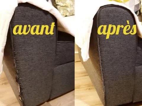 DIY TUTO Réparation facile d'un accoudoir de canapé en tissu