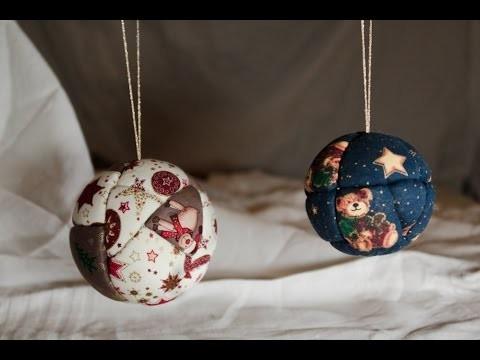 [NOËL] Boules de Noël effet patchwork - DIY