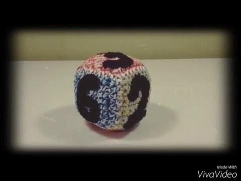 Dé cube chiffres  en crochet    bricotricot