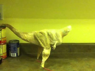 Paper mâché carnotaur dinosaur