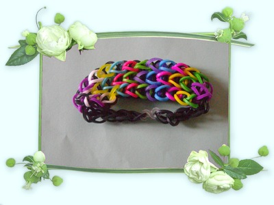 Rainbow loom - bracelet 3 rangs coloréé-en francais