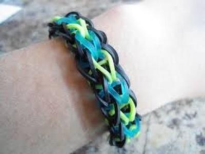 Bracelet élastique - bracelet triangle rainbow loom france