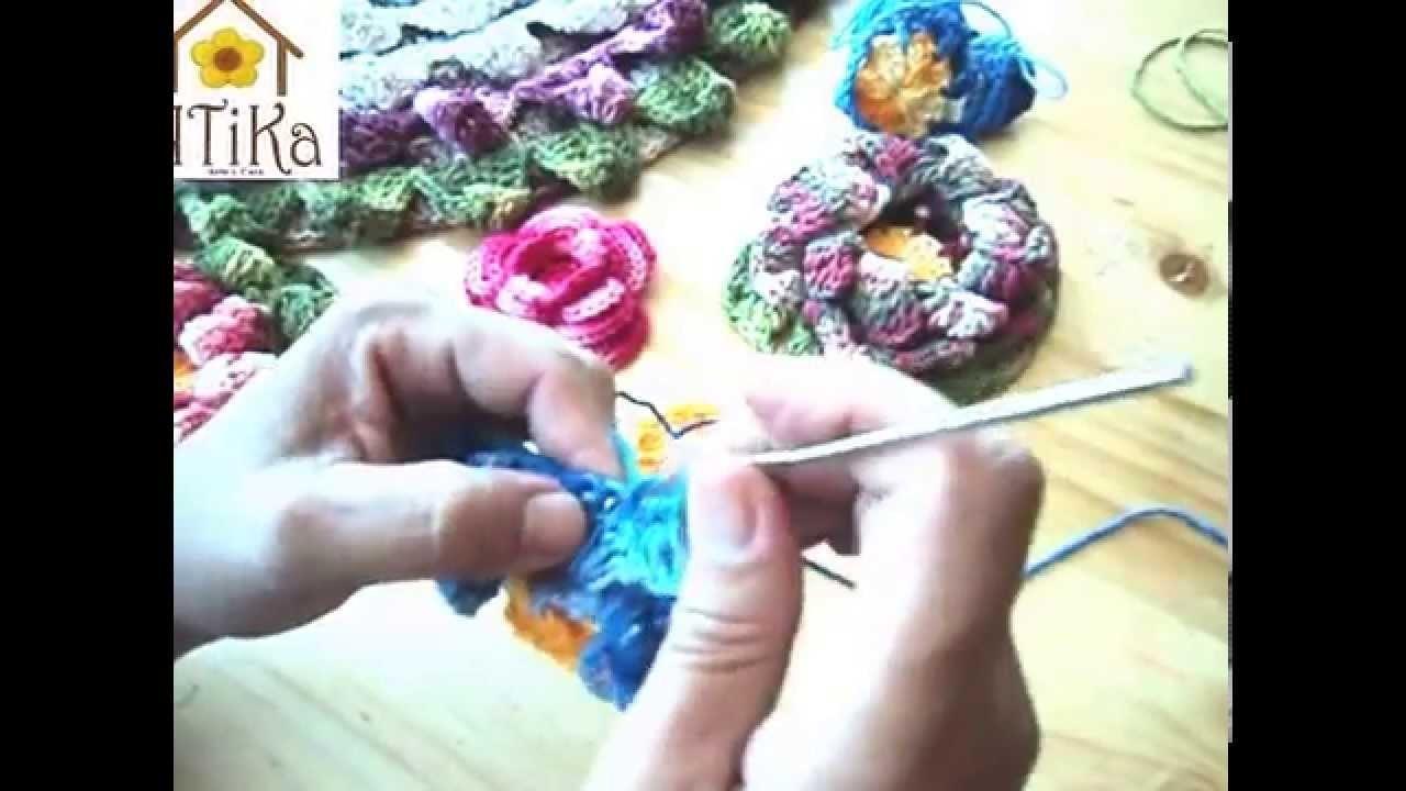 Flor em croche Cabral