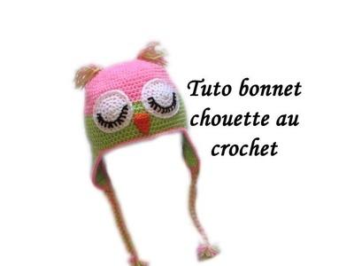 TUTO BONNET CHOUETTE AU CROCHET FACILE Owl crochet beanie easy